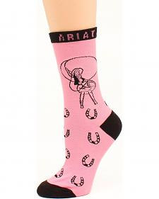 Ariat Retro Cowgirl Crew Socks