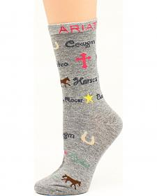Ariat Girls' Cowgirl Crew Socks