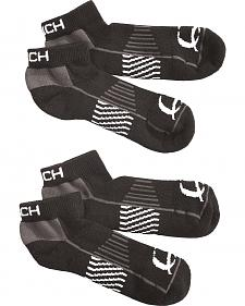 Cinch Men's Black Athletic Ankle Socks (2-Pack)