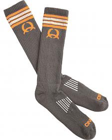 Cinch Men's Grey and Orange Boot Socks