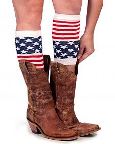 Shyanne Women's American Flag Boot Cuffs