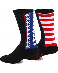 Cody James Men's American Flag Crew Socks