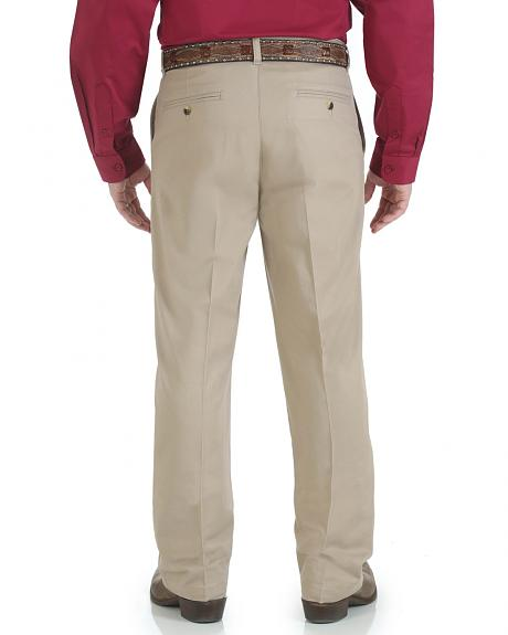 Wrangler Men's Riata Flat Front Relaxed Casual Pants
