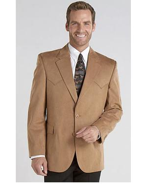 Circle S Microsuede Sport Coat - Reg, Tall