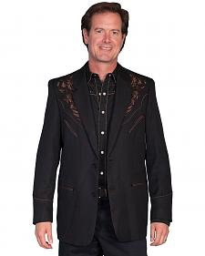 Scully Black Floral Embroidered Western Jacket