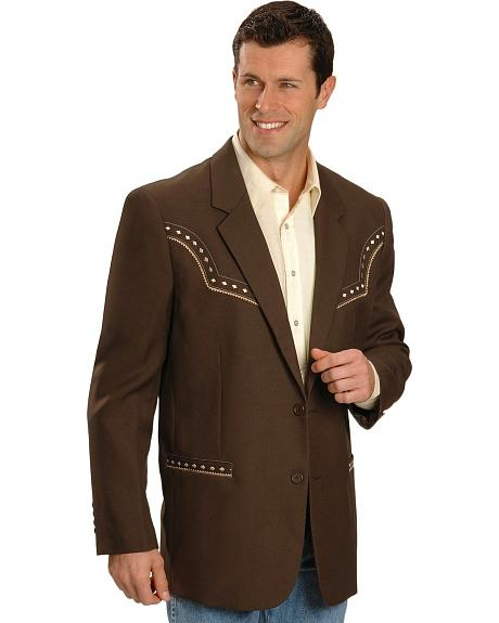 Scully Chocolate Diamond Embroidery Western Jacket