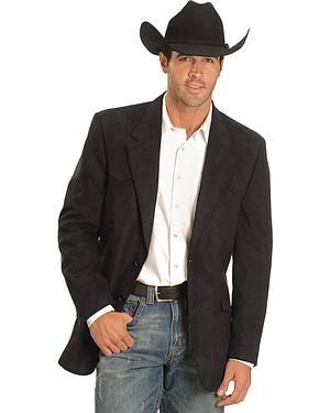 Black Microsuede Western Jacket