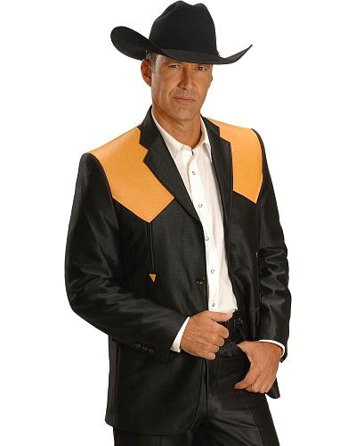 Ostrich Print Yoke Suit Jacket Western & Country 260
