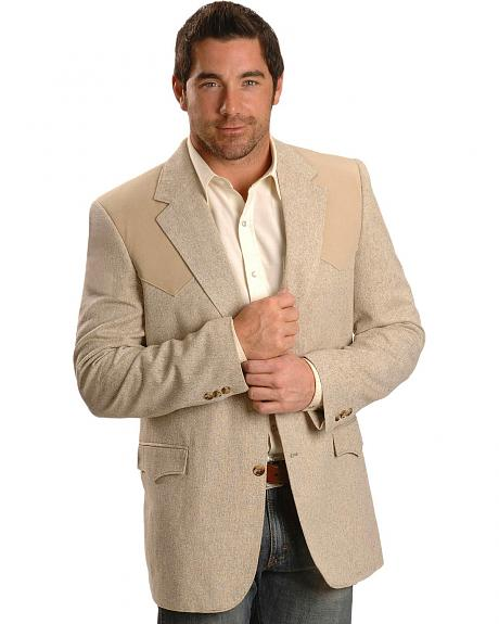 Circle S Contrast Yoke Sport Coat - Reg & Tall