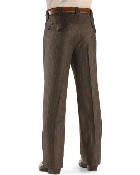 Circle S Chestnut Pinstripe Dress Pants