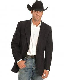 Black Microsuede Western Jacket - Tall
