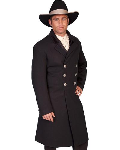 WahMaker by Scully Double-Breasted Wool Frock Coat - Big  Tall $338.99 AT vintagedancer.com