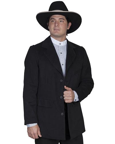 WahMaker by Scully Brushed Cotton Coat Western & Country 524009 BLACK