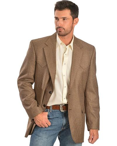 Circle S Mens Lubbock Elbow Patches Sportcoat Western & Country CC4594E-36