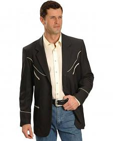Scully Black Retro Western Jacket - Big and Tall