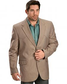 Circle S Men's Textured Brown Western Sport Coat