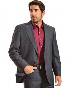 Circle S Men's Lubbock Slate Blue Suit Coat