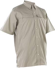 Tru-Spec Men's Beige 24-7 Pinnacle Short Sleeve Shirt
