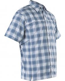 Tru-Spec Men's Blue Plaid 24-7 Camp Shirt