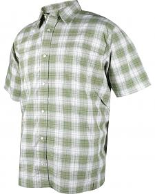 Tru-Spec Men's Green Plaid 24-7 Cool Camp Shirt
