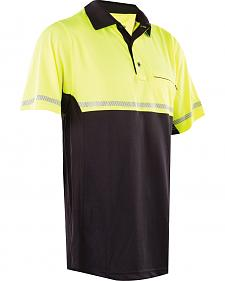 Tru-Spec Men's 24-7 HiViz Yellow Bike Polo Shirt
