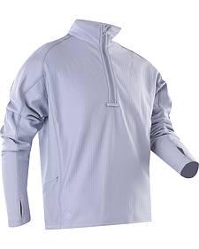 Tru-Spec Men's Grey 24-7 Grid Fleece Pullover