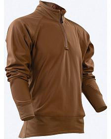 Tru-Spec Men's Tan 24-7 Cross-Fit Grid Fleece Pullover