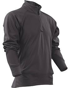 Tru-Spec Men's Grey 24-7 Cross-Fit Grid Fleece Pullover