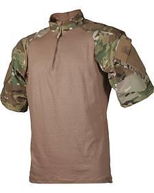 Tru-Spec Men's Tan and Camo TRU Combat 1/4 Zip Shirt