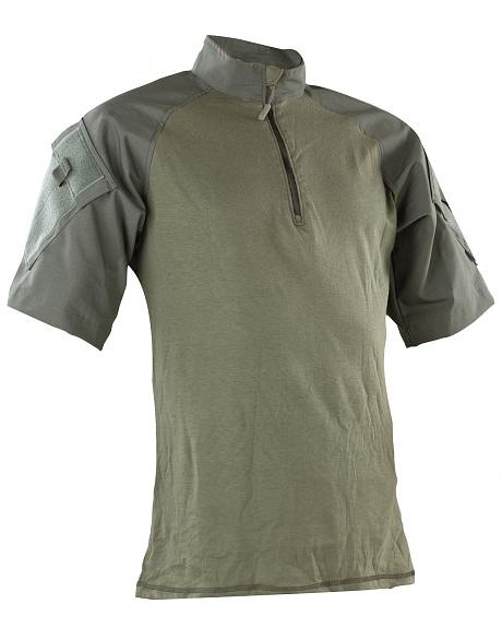 Tru-Spec Men's Olive Nylon / Cotton 1/4 Zip Short Sleeve Combat Shirt