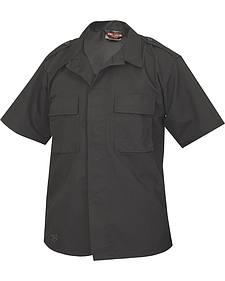 Tru-Spec Men's Black Short Sleeve Tactical Shirt