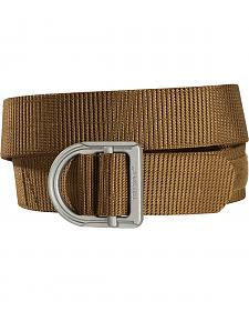 Tru-Spec Men's Light Brown 24-7 2Ply Range Belt and Silver Buckle