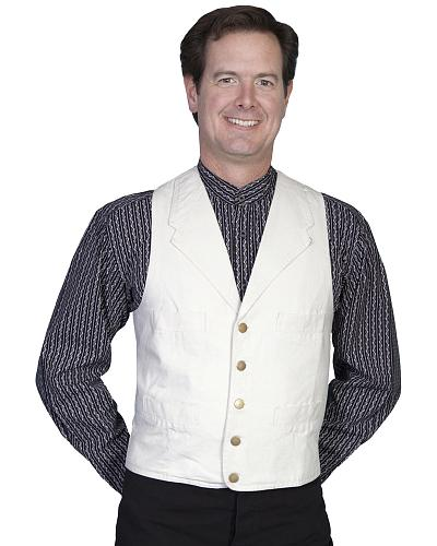 Rangewear by Scully Frontier Canvas Vest $49.00 AT vintagedancer.com
