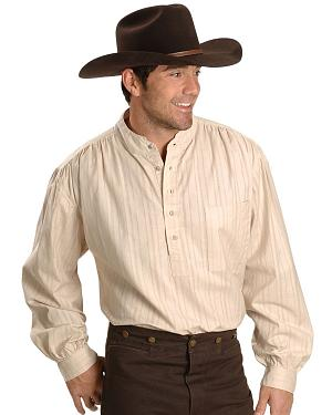 Rangewear by Scully Natural Old Fashioned Railroader Shirt $52.99 AT vintagedancer.com