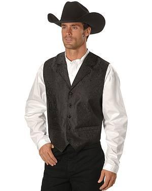 Rangewear by Scully Black Paisley Button Vest
