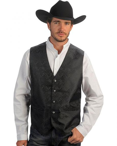 Gibson Trading Co. Black Paisley Dress Vest