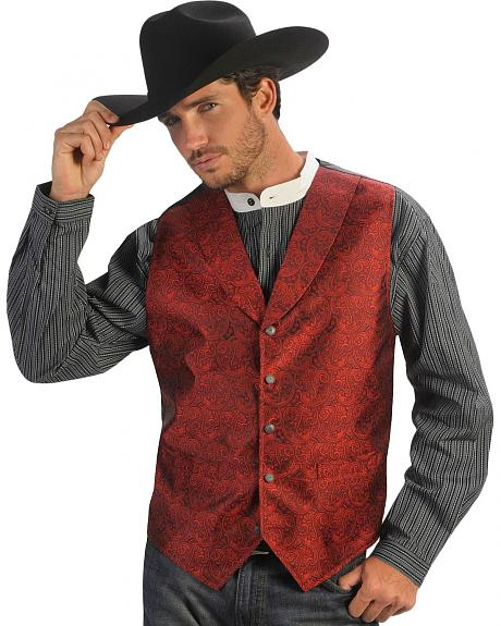 Gibson Trading Co. Burgundy Paisley Dress Vest
