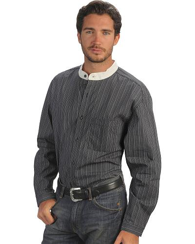 Rangewear by Scully Padre Stripe Long Sleeve Shirt $52.99 AT vintagedancer.com