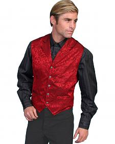 Wahmaker by Scully Silk Floral Single Breasted Vest