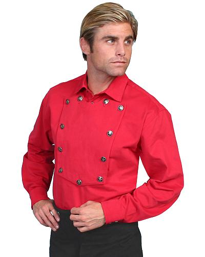 Wahmaker by Scully Brushed Twill Bib Shirt $83.99 AT vintagedancer.com