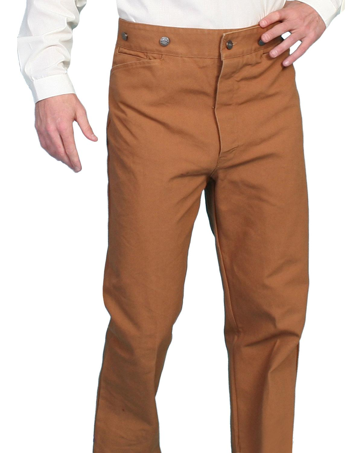 Wahmaker by Scully Canvas Saddle Seat Pants 564552 BRN