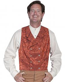 Wahmaker by Scully Floral Silk Double Breasted Vest - Big & Tall