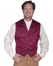 Wahmaker Silk Floral Single Breasted Vest - Big & Tall