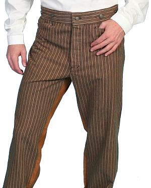 Wahmaker by Scully Cotton Saddle Cut Stripe Pants - Tall $59.97 AT vintagedancer.com