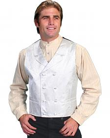 Rangewear by Scully Paisley Print Double Breasted Vest - Big & Tall