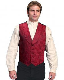 Rangewear by Scully Paisley Print Round Collar Vest - Big & Tall