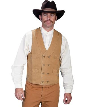 Rangewear by Scully Cotton Canvas Double Breasted Vest - Big & Tall