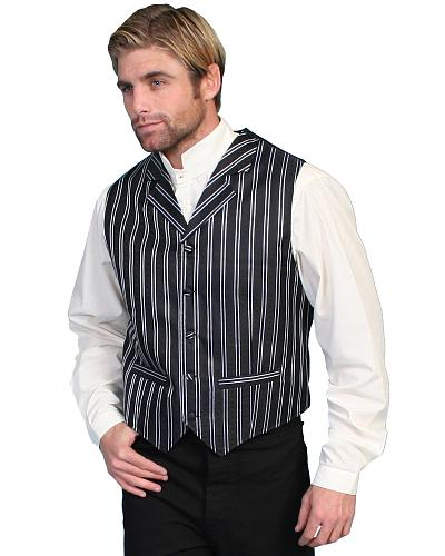 Rangewear by Scully Double Pinstripe Vest - Big  Tall $55.99 AT vintagedancer.com