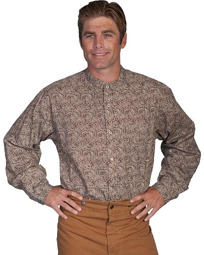 Rangewear by Scully Brown Paisley Frontier Shirt - Big  Tall $55.99 AT vintagedancer.com