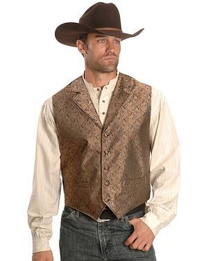 Rangewear by Scully Notched Lapel Paisley Print Vest